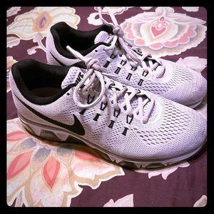Gray and black Nikes!